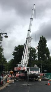 Bridge Install in Wolverhampton - Terex Explorer 5800 - 220T Crane