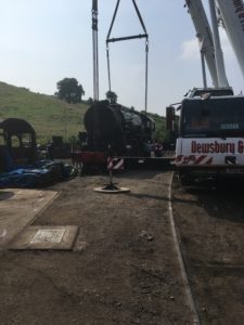 Liebher LTM 1090 - 4.1 - Lifting a steam engine in Stratford Upon Avon